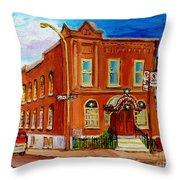 Bagg And Clark Street Synagogue Throw Pillow