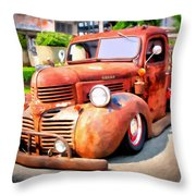 Bagged Out Dodge Throw Pillow