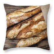 Baguettes Bread Throw Pillow