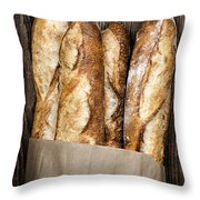 Baguettes  Throw Pillow by Elena Elisseeva