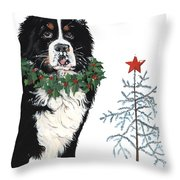 Bah Humb Merry Christmas Throw Pillow by Liane Weyers