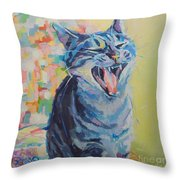 Bah Humbug Throw Pillow by Kimberly Santini