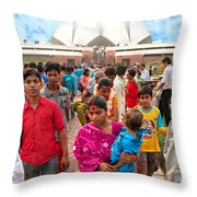 Baha'i House Of Worship - New Delhi - India Throw Pillow