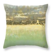 Bahai House Of Worship And Lake Michigan Shoreline Throw Pillow