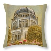 Baha'i  Temple In Wilmette Throw Pillow