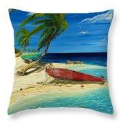 Bahama Beach Throw Pillow