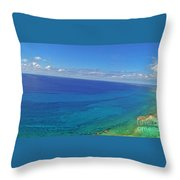 Bahama Colors Throw Pillow