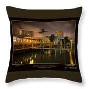 Bahia Cabana Docks Throw Pillow