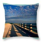 Bahia Honda Bridge In The Florida Keys Throw Pillow