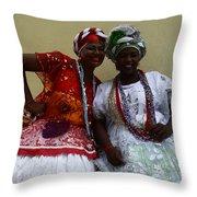 Bahian Ladies Of Salvador Brazil 3 Throw Pillow