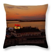 Bahrs Landing Throw Pillow by Raymond Salani III