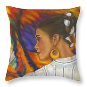 Baile Con Colores Throw Pillow