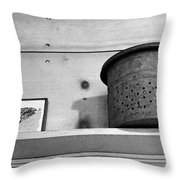 Bait Bucket And Fish Throw Pillow