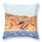 Baja Panorama Throw Pillow