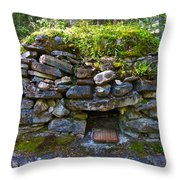 Bake Oven From 1884-5 In  Kicking Horse Campground In Yoho Np-bc Throw Pillow