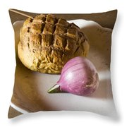 Baked Bread And Onion Throw Pillow