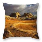 Baked Earth Throw Pillow
