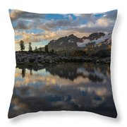 Baker Cloudscape Dusk Panorama Throw Pillow