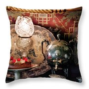 Baker - Ready For The Party Throw Pillow by Mike Savad