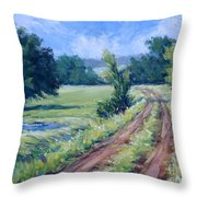 Bakers Ranch Road Throw Pillow