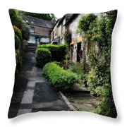 Bakewell Country Terrace Houses - Peak District - England Throw Pillow