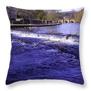 Bakewell Weir Throw Pillow