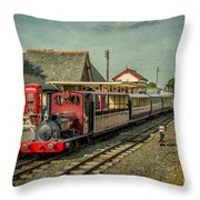 Bala Lake Railway Throw Pillow