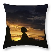 Balance Rock Arches National Park Throw Pillow