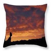 Balanced Rock Al Silhouette  Throw Pillow