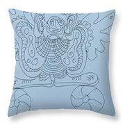 Balancing Clown - Doodle Throw Pillow