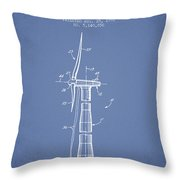 Balancing Of Wind Turbines Patent From 1992 - Light Blue Throw Pillow