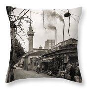 Balat Neighborhood In Istanbul Throw Pillow