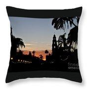 Balboa At Sunset  Throw Pillow
