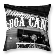 Balboa Candy Sign On Balboa Island Newport Beach Throw Pillow