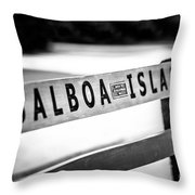Balboa Island Bench In Newport Beach California Throw Pillow