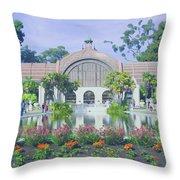 Balboa Park Botanical Garden Throw Pillow