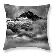 Balck And White Tantalus Peaks Throw Pillow