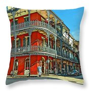 Balconies Painted Throw Pillow