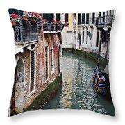 Balcony And The Gondola Throw Pillow