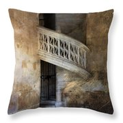 Balcony At Les Invalides Paris Throw Pillow
