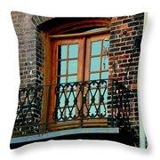Balcony Doors Throw Pillow