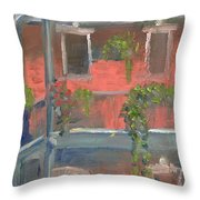 Balcony I Throw Pillow
