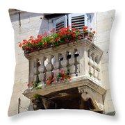Balcony In Split Croatia Throw Pillow