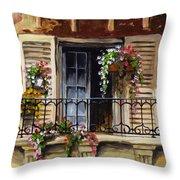 Balcony Of Ferrara Throw Pillow