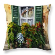 Balcony Of Napoly Throw Pillow