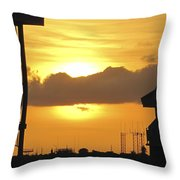 Key West Balcony Sunset Throw Pillow