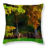 Bald Cypress 3 - Digital Effect Throw Pillow