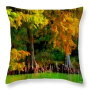 Bald Cypress 4 - Digital Effect Throw Pillow