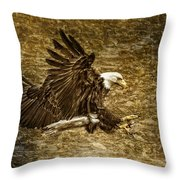 Bald Eagle Capture Throw Pillow