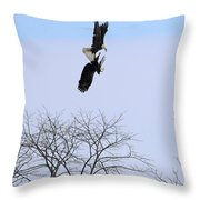 Bald Eagle Courtship Ritual  1337 Throw Pillow